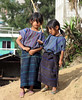 SAN ANTONIO PALOPO, GUATEMALA - Along the banks of Lake Atitlan, these young girls watched as we departed the village of San Antonio Palopo.
