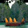 We would spend the afternoon, night, and next morning on one of the teak Vietnamese junks cruising among the nearly 3,000 mountain-islands that make up this amazing seascape.